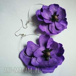kolczyki kwiaty etno maki lekkie