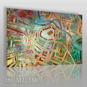 obrazy obraz na płótnie - labirynt wrocław 120x80 cm 24601, labirynt, wrocław, mapa