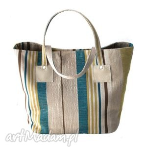 37-0011 wielobarwna torebka shopper bag 3w1 ekologiczna torba na zakupy owl, modne
