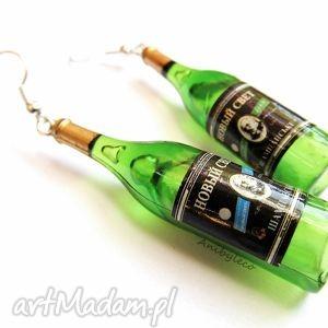 KOLCZYKI wino, kolczyki, butelka, butelki