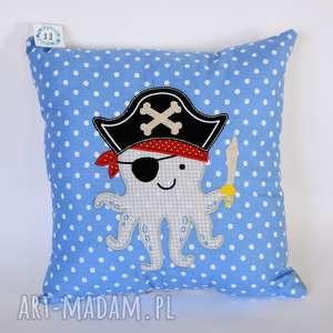 Poduszka z aplikacją - Ośmiornica / pirat , poduszka, pirat, ośmiornica, morze