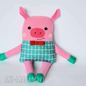 Chrumka, świnka z klasą - Antek 39 cm, świnka, marynarz, chłopiec, maskotka