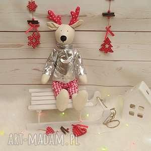 renifer - przytulanka/ dekoracja świąteczna, święta, renifer, dekoracje, prezent