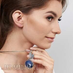 naszyjnik srebrny z ważką i lapis lazuli a582, biżuteria ważka, naszyjnik