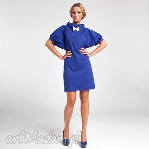 ręczne wykonanie sukienki blue classic 44