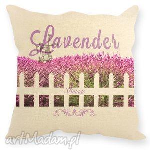 ręcznie zrobione poduszki poduszka z motywem lawendy - lawenda