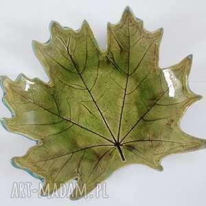 miska zielony liść, dekoracyjna miska, roślinna ceramika, liść