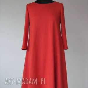 sukienki 7 - sukienka pomarańczowa