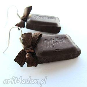 handmade kolczyki kolczyki czekoladka