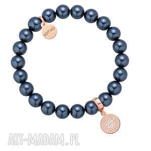 morska bransoletka z pereł swarovski® crystal z rozetką