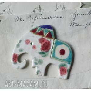handmade magnesy słoń magnes
