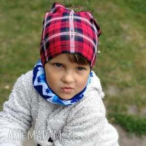 czapka dziecięca w kratkę dla 3-latka, dziecko, kratka, czapka, etno, kolorowa, sport