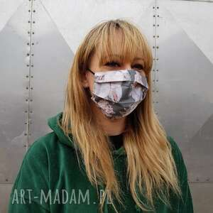 kwiatowa maseczka ochronna do twarzy bawełniana kobieca maska kosmetyczna