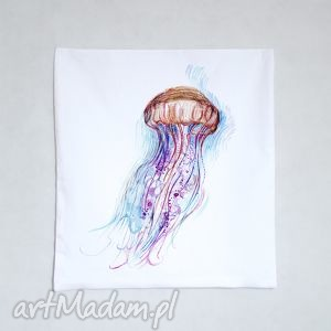 meduza bawełniana poszewka z nadrukiem 40 x 40, poszewka, poduszka