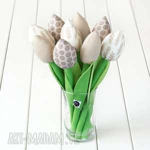 dekoracje tulipany beżowy bawełniany bukiet, tulipany, kwiaty, dzień