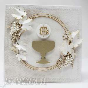 Pierwsza Komunia - kartka i pudełko, zaproszenie, komunia, pamiątka, życzenia