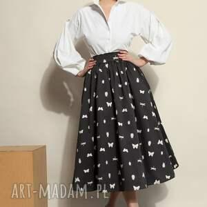 sukienki spódnica midi w robaczki