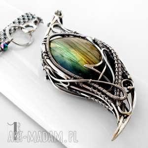 handmade naszyjniki taivas v srebrny naszyjnik z labradorytem