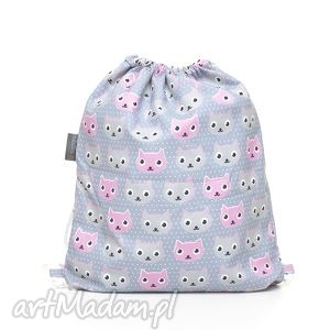 handmade dla dziecka plecak worek przedszkolaka kotki