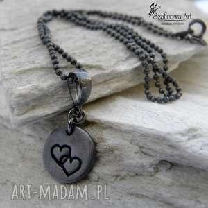 a miłość niech trwa - naszyjnik, srebro, miłość, prezent, oksyda