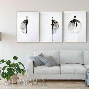 zestaw 3 grafik 50 x 70 cm , obrazy-ręcznie-malow, grafiki-do-salonu, obrazy-grafiki