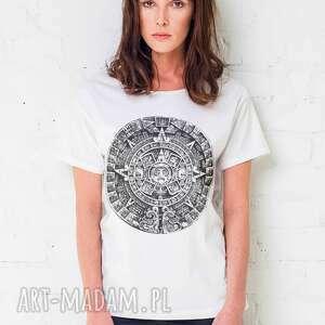 mayan oversize t-shirt, oversize, tshirt, biały, bawełna, moda, casual