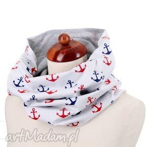 komin morski, komin, ciepły, bawełna, kotwice, prezent