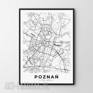 mapa poznań - plakat 40x50 cm, mapa, plakat, poznań