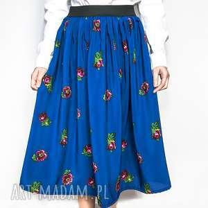 Niebieska spódnica ludowa rozmiar S/M, spódnica,