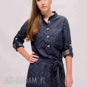 Niebo nad Saragossą- koszulo-sukienka, maxi-koszula, długa-koszula, dresowa-sukienka