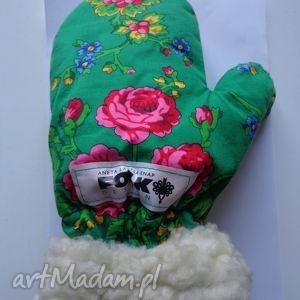 Rękawiczki zimowe folk design aneta larysa knap folkdesign