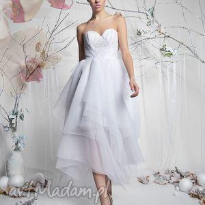 Snowflake - bajeczna suknia ślubna, suknia, długa, organza