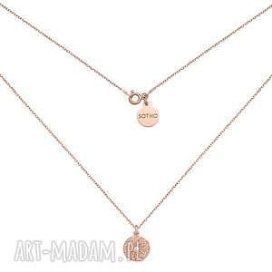 Naszyjnik z różowego złota medalionem naszyjniki sotho medalion