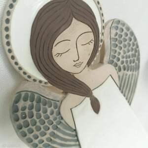 Anioł ceramiczny - pula ceramika smokfa anioł, komunię