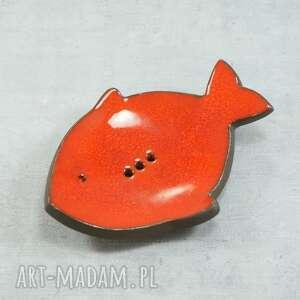 ryba - mydelniczka ceramiczna, mydelniczka, łazienka, mydełko, ryba, morskie