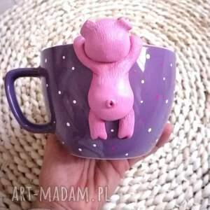 handmade ceramika kubek cute pig