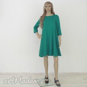 lalu sukienki 7 - sukienka jasno zielona, sukienka, rozkloszowana, trapez, mini