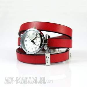 ręcznie zrobione bransoletka, zegarek - luck, czarny koń czerwony