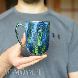 kubki kubek ceramiczny zielona głębia 325 ml, ceramiczny