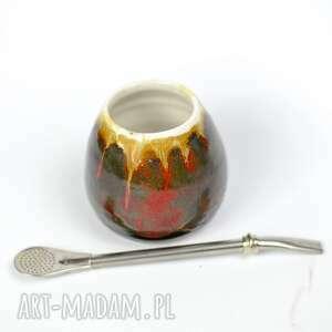 małe męskie ceramiczne naczynie do yerba mate / matero handmade