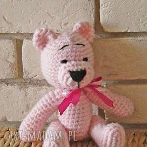 unikalne, miś różowy, maskotka, zabawka, przytulanka, upominek, prezent