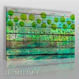 obraz na płótnie - abstrakcja drewno - 120x80 cm 16201 - drewno, natura