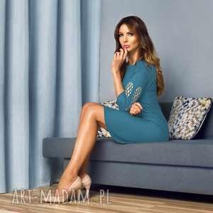 Sukienka Patrizia Angel Szafirowa, sukienki-do-pracy, elegancka-sukienka