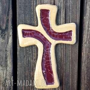 zamówienie krzyż 40 cm, krzyż, krzyżyk, ceramika, szkło, znak, symbol