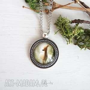 naszyjniki medalion, naszyjnik - sarna, naszyjnik, sarna, romantyczny
