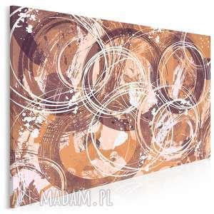 obraz na płótnie - abstrakcja koła 120x80 cm 34801, koła