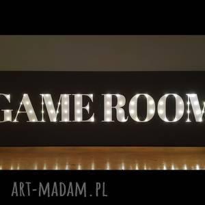 świecący napis game room prezent dla niego fana gier dekoracja pokoju