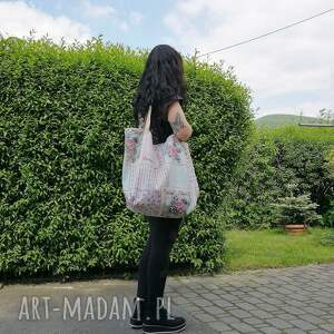 torebka w kwiaty XXL, kwiaty, vintage, torebka, torba, worek, xxl