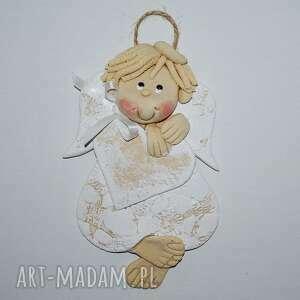 aniołek - adaś ma pamiątkę, aniołek, masa solna, prezent, serce, urodziny