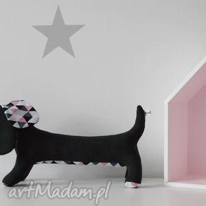 Psiak niteczka zabawki hop siup maskotka, pies, jamnik